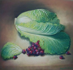 Tong Wei Zhang Cabbage pastels