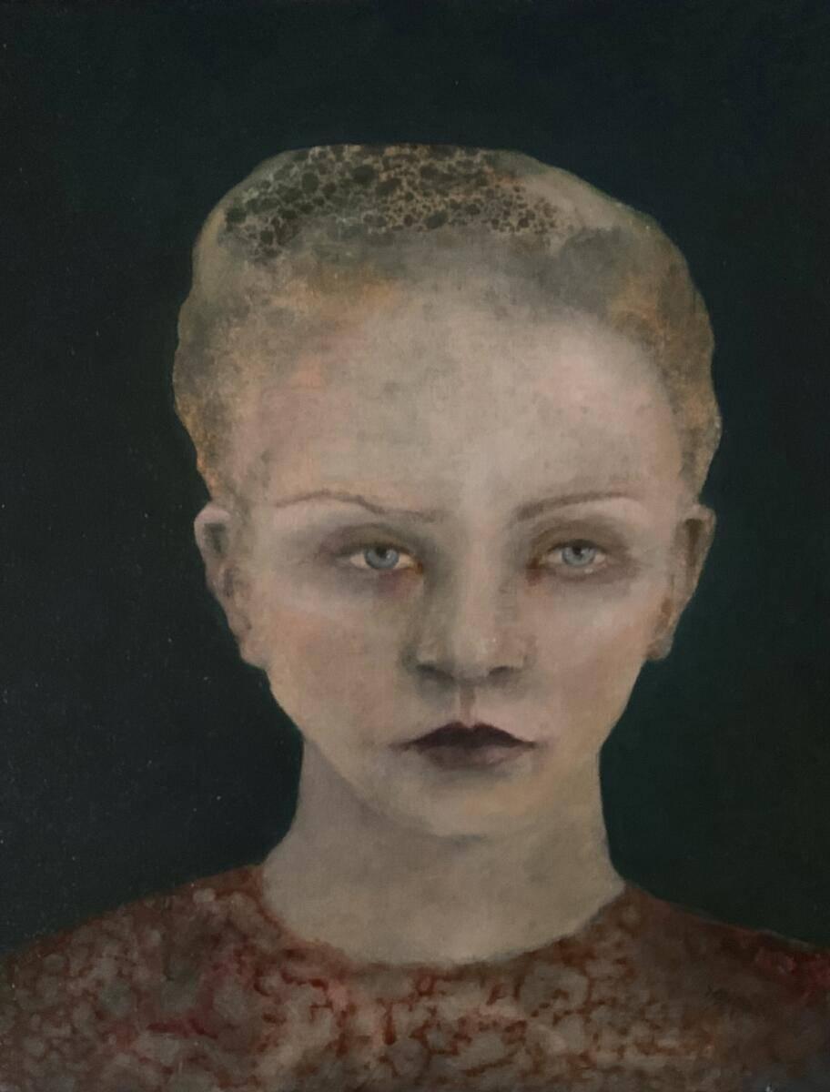 Covid Girl, Gina Dunlop, Oils/Acrylics