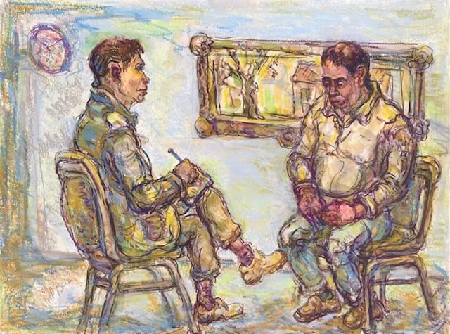 Counseling a Senior after Covid, Jeffrey Berman, Mix Media