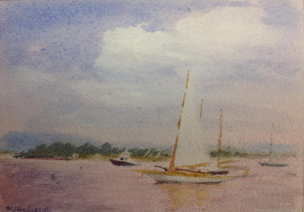 Connecticut Summer by Marie Sheehy-Walker, Watercolor